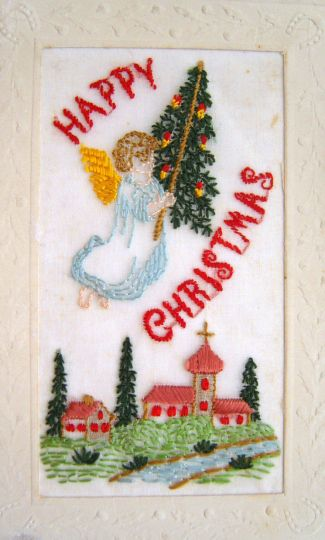 Postcards from the Front: Britain 1914-1919 - Christmas angel with Christmas tree