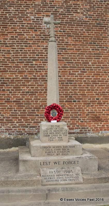 Levington village's War Memorial