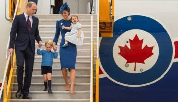 Com os filhos, príncipe William e Kate iniciam visita ao Canadá