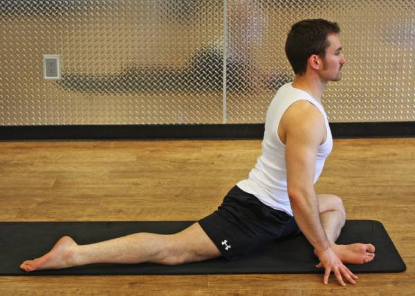 Half Pigeon Stretch Exercise Back Pain Erg Rowing