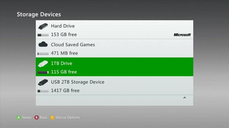 xbox 360 mass storage