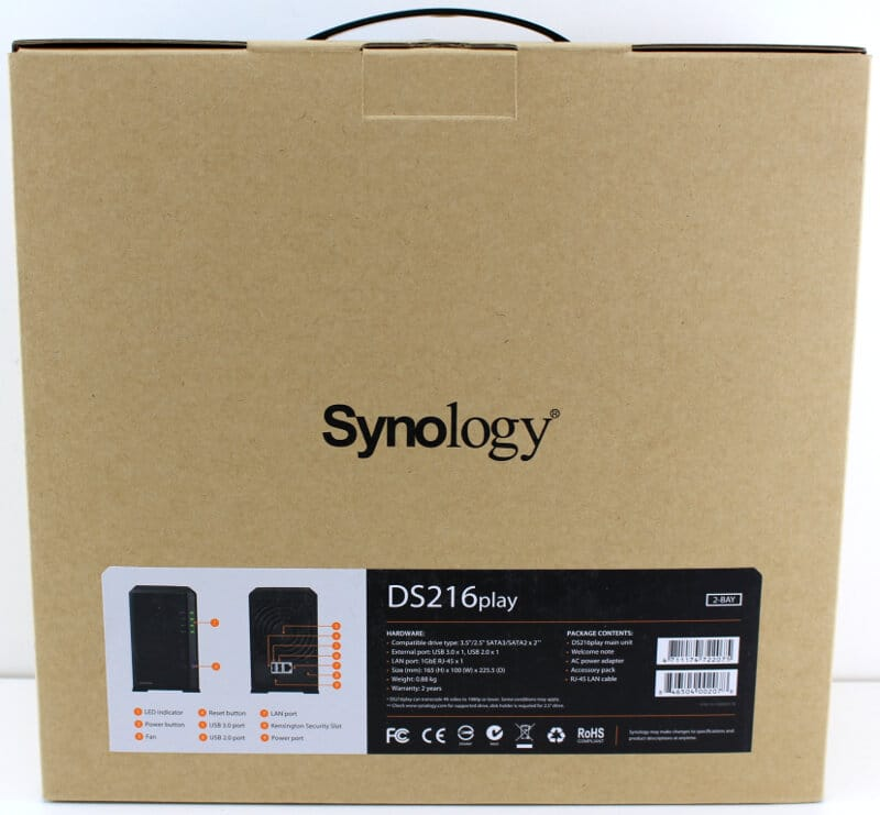 Synology_DS216play-Photo-box rear