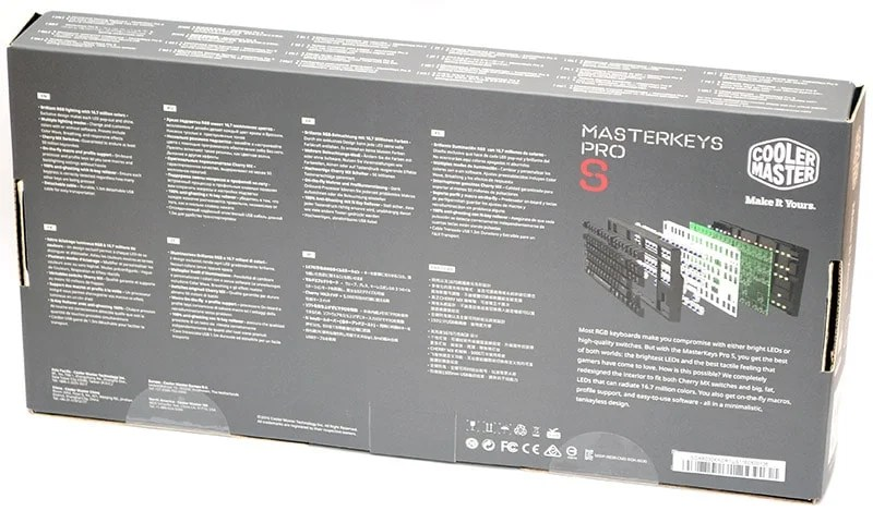 Cooler Master Masterkeys Pro S box back