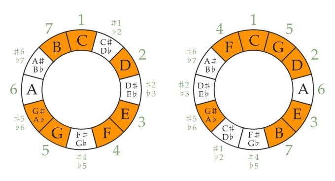 C harmonic major scale