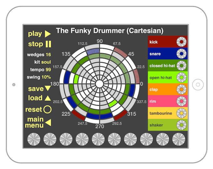Funky Drummer math mode - Cartesian