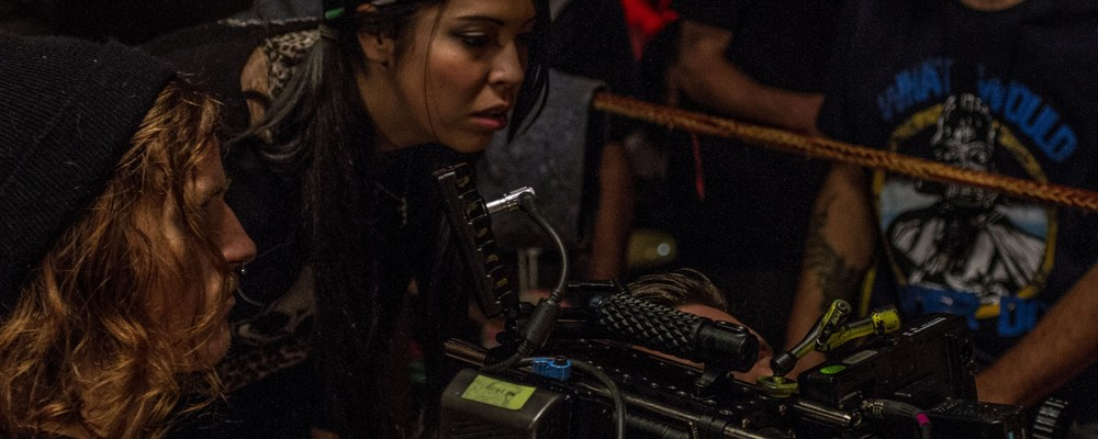 "Gigi Saul Guerrero Directing the horror short ""El Gigante"""
