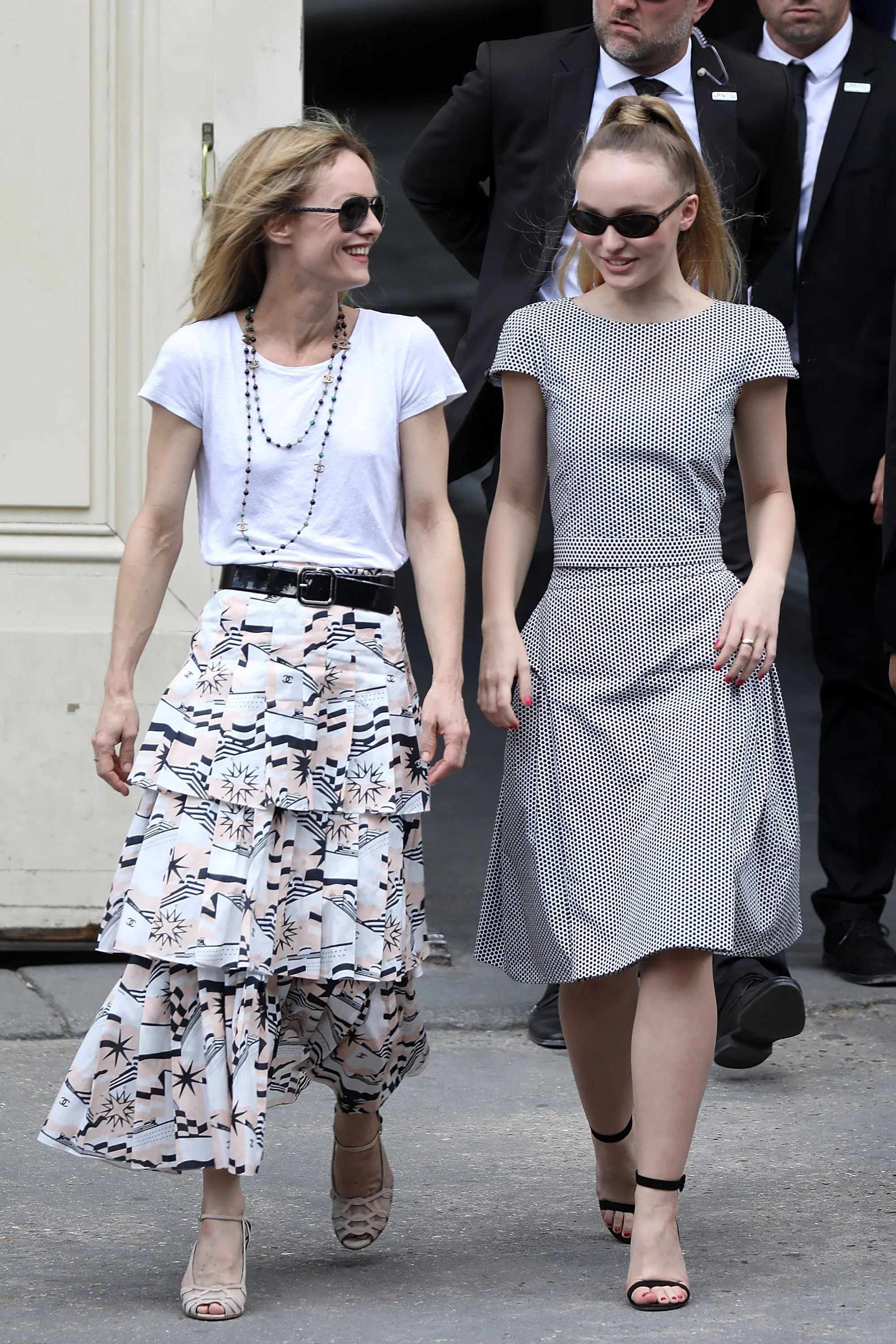 Newlywed Vanessa Paradis Beams as She Steps Out With Daughter Lily     Newlywed Vanessa Paradis Beams as She Steps Out With Daughter Lily Rose in  Paris   Entertainment Tonight