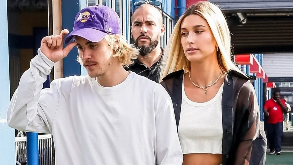 Hailey Baldwin and Justin Bieber Attend Their First Fashion Show     Justin Bieber and Hailey Baldwin at John Elliott NYFW 1280