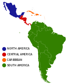 Common subregions in Latin America