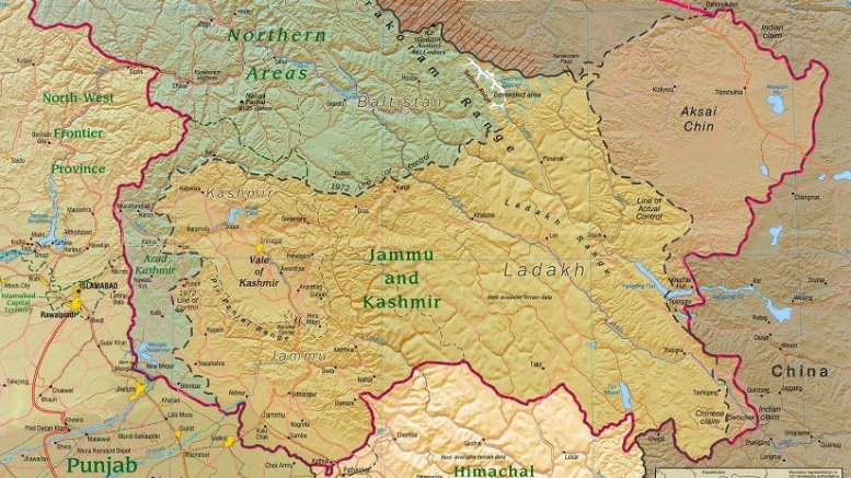 The Kashmir region districts. Source: CIA, Wikipedia Commons.