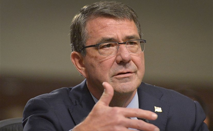 Defense Secretary Ash Carter speaks to members of the Senate Armed Services Committee during testimony on the recently brokered Iranian nuclear deal in Washington, D.C., July 29, 2015. Carter was joined by Secretary of State John Kerry, Chairman of the Joint Chiefs of Staff Army Gen. Martin E. Dempsey, U.S. Treasury Secretary Jack Lew and Energy Secretary Ernest Moniz. DoD photo by Glenn Fawcett