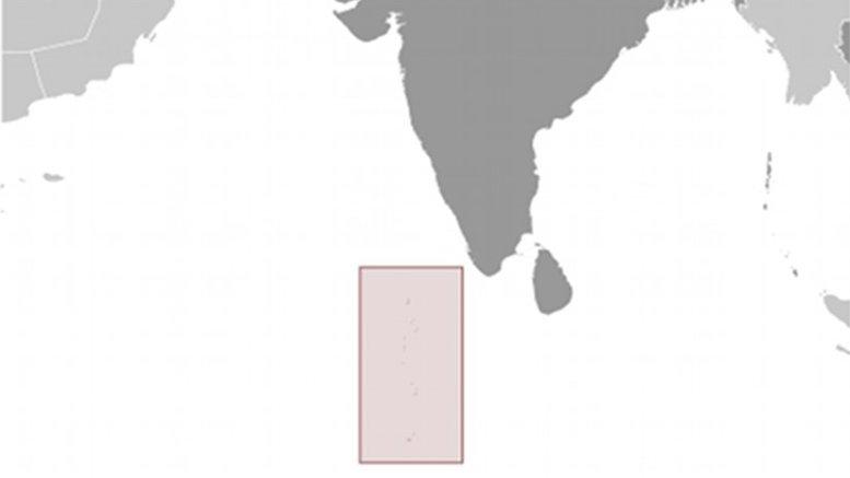 Location of Maldives. Source: CIA World Factbook.