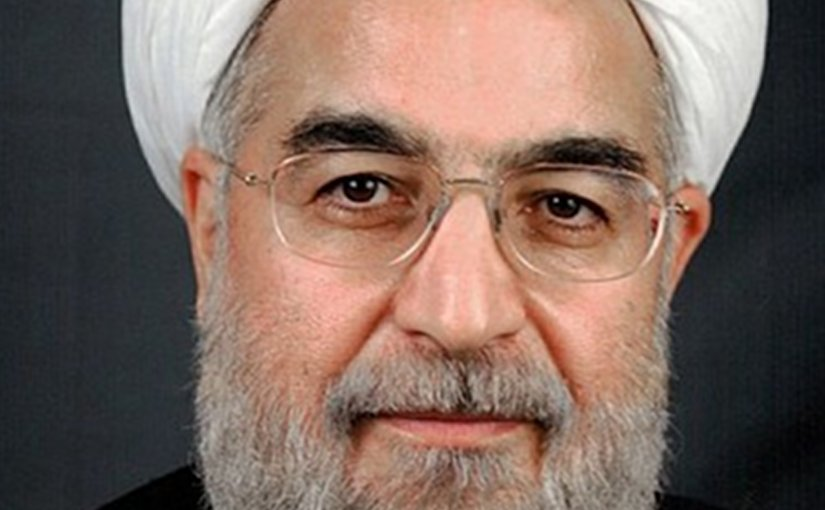 Iran's Hassan Rohani. Photo by BotMultichillT, Wikipedia Commons.