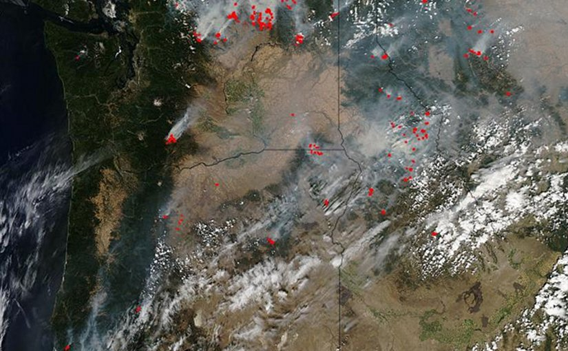 Satellite Image Shows US Pacific Northwest Wildfire Severity
