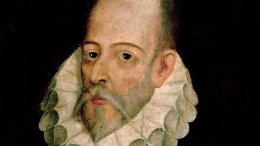 Portrait of Miguel de Cervantes y Saavedra by Juan de Jauregui y Aguilar (circa 1583 - 1641). Source: Wikipedia Commons.