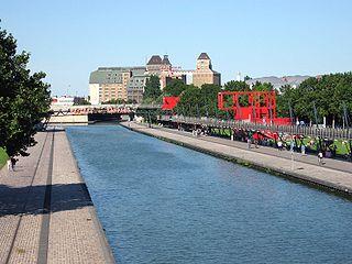 Quelle est la profondeur du canal de l'Ourcq au niveau du bassin de la Villette ?