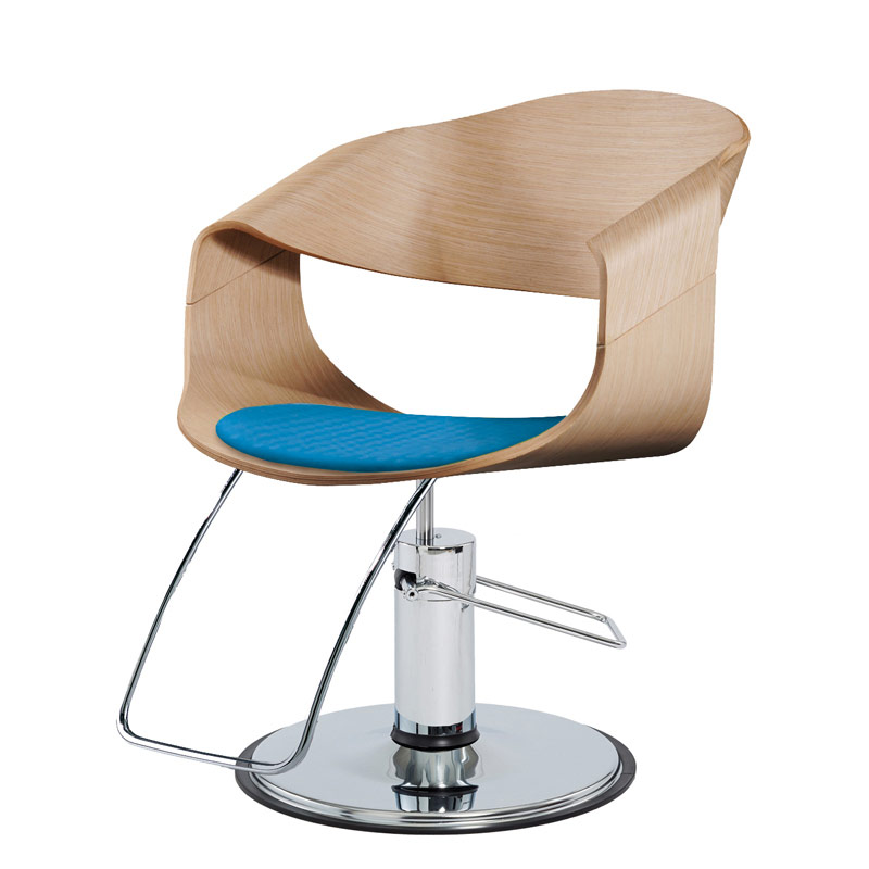 curved air salon styling chair oak