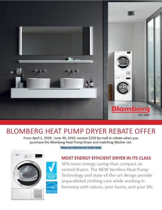 Blomberg Heat Pump Dryer Rebate Offer