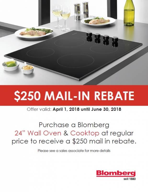 Blomberg Walloven & Cooktop Mail in rebate