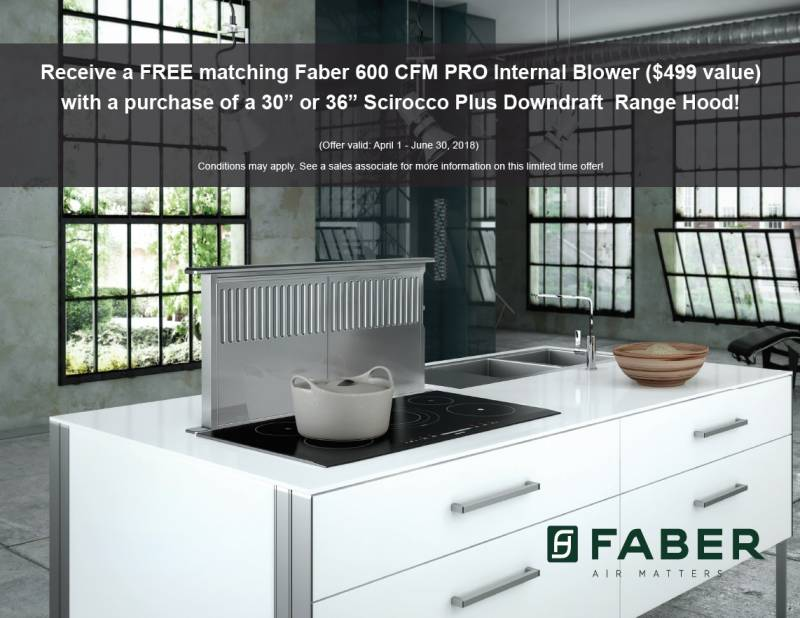 Faber Scirocco + Internal Blower Promotion