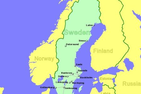 Map Of Sweden With Major Cities - Sweden map all cities