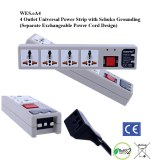 eA4, 4th Gen WonPro II 4-Outlet Univ. Power Strip with Schuko Ground