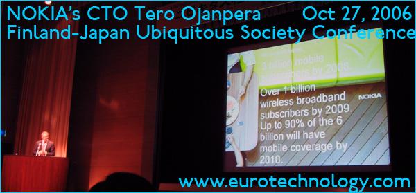 Nokia CTO Tero Ojanpera talking at the Finland Japan Ubiquitous Society Conference