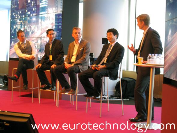 Panel (left to right): Dan Simmons (BBC), Jacob Navok (Square-Enix), Ulf Ewaldsson (Ericsson), Yung-Ha Ji (KT Corporation)