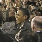 President Obama greets service members at Bagram Air Base in Afghanistan