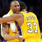 Kobe Bryant and Ron Artest after game 6