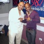 "Gospel great Kirk Franklin dropped by Lenny Green's syndicated show, KISSing After Dark, to tell him and his listeners about his inspirational new book, called ""The Blueprint: A Plan For Living Above Life's Storms.""  Photo credit:  Global Vito"