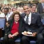 Helen Thomas and President Obama