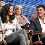 "(L-R) Top Row: Kevin Kennedy Executive Producer/Creator/Writer; Carol Mendelsohn Executive Producer; Greg Walker Executive Producer/Showrunner; Bottom Row - Jurnee Smollett; Jerry O'Connell at a TCA panel for ""The Defenders"" in Los Angeles ( July 28, 2010)"