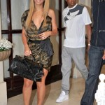Beyonce and Jay-Z leave the Meurice Hotel and fight a swarm of fans waiting outside. They head to L'Avenue to have lunch with Beyonce's nephew Daniel Julez. (April 20, 2011)