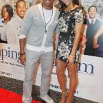 Laz Alonso and Paula Patton at the Dallas red carpet screening of Jumping the Broom. (Photo credit: Vernon Bryant, courtesy TDJ Enterprises/The FrontPage Firm)