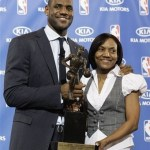 lebron and mother