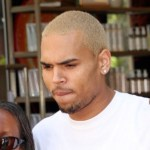 Back to blonde, Chris Brown meets fans on a shopping trip to The Grove in Los Angeles, May 10, 2011