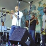 Irving Mayfield performs with Los Hombres Calientes during the first weekend of the 2011 New Orleans Jazz & Heritage Festival presented by Shell