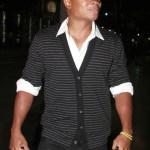 &quot;Smallville&quot; actor Sam Jones III leaving Katsuya restaurant in West Hollywood.