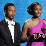 Tiffany Greene with Terrence J. at the 2011 BET Awards in Los Angeles, June 26, 2011