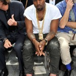 Kanye West attends the Louis Vuitton Men's Ready-to-Wear show. (June 25, 2011)