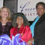 Liebe Geft, Dr. Sonia Sanchez and Myrlie Evers Williams