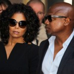 Janet Jackson and Randy Jackson leaving the courthouse