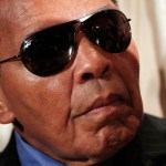 World Heavyweight Boxing Champion Muhammad Ali attends a news conference at the National Press Club on May 24, 2011 in Washington, DC.