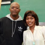 Samuel L. Jackson and Angela Bassett attend the &quot;The Mountaintop&quot; press confrence at Brooklyn High School of the Arts on September 19, 2011 in the Brooklyn borough of New York City