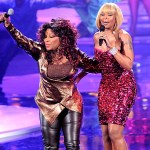 "Chaka Khan (l) and Mary J. Blige perform during ""VH1 Divas Celebrate Soul"""