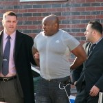 Ex-NYPD officer Clarence Cash - shown being arrested - shot and killed his wife, Tracey Young.