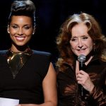 Alicia Keys, Bonnie Raitt performs in an Etta James Tribute at the Grammy Awards, Feb. 12, 2012