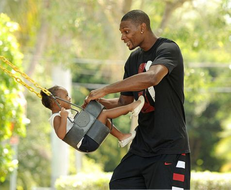 chris bosh and daughter
