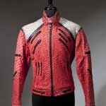 "a Michael Jackson ""Beat It"" style jacket used on stage during the 1992-1993 Dangerous Tour"